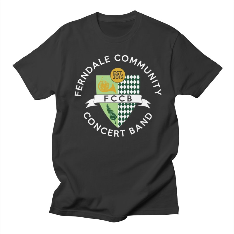 Large Crest- dark styles Men's Regular T-Shirt by FCConcertBand's Apparel Shop