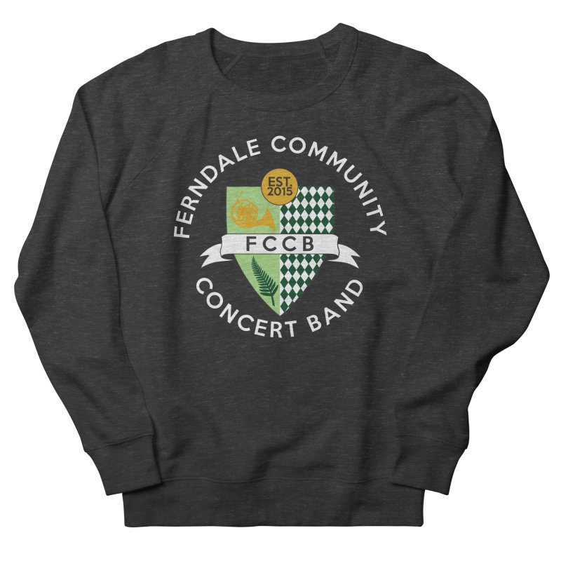 Large Crest- dark styles Men's French Terry Sweatshirt by FCConcertBand's Apparel Shop