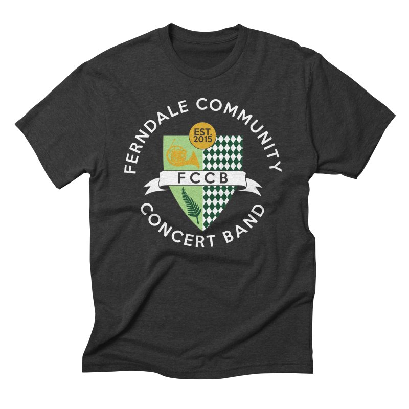 Large Crest- dark styles Men's Triblend T-Shirt by FCConcertBand's Apparel Shop
