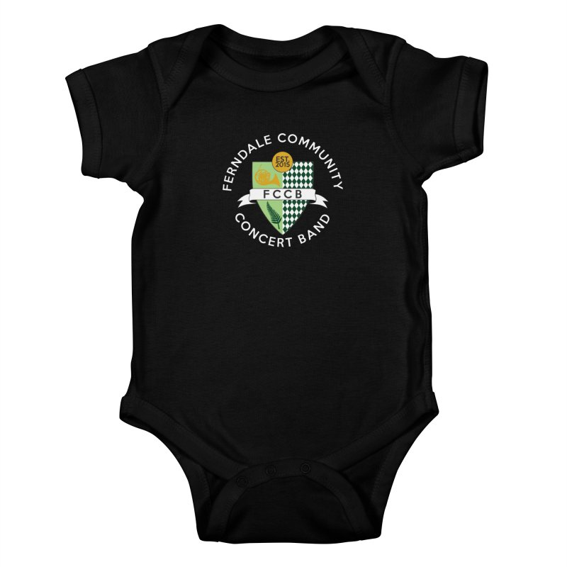 Large Crest- dark styles Kids Baby Bodysuit by FCConcertBand's Apparel Shop