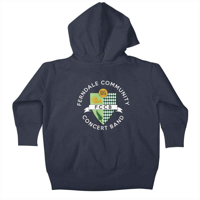 Large Crest- dark styles Kids Baby Zip-Up Hoody by FCConcertBand's Apparel Shop