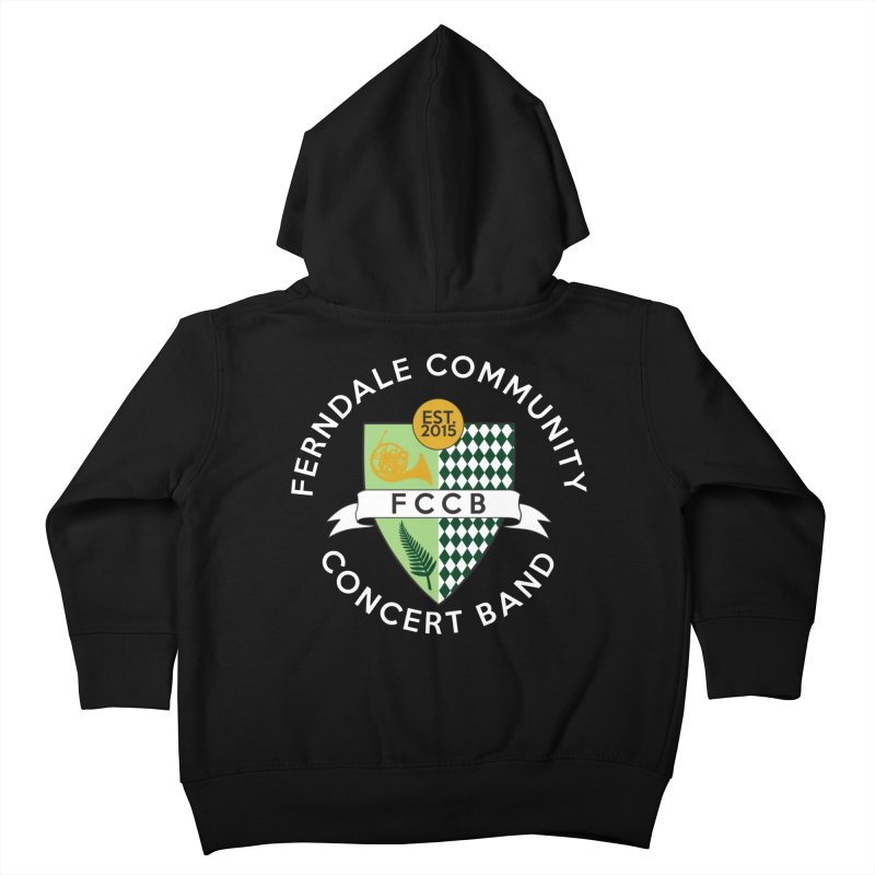 Large Crest- dark styles Kids Toddler Zip-Up Hoody by FCConcertBand's Apparel Shop