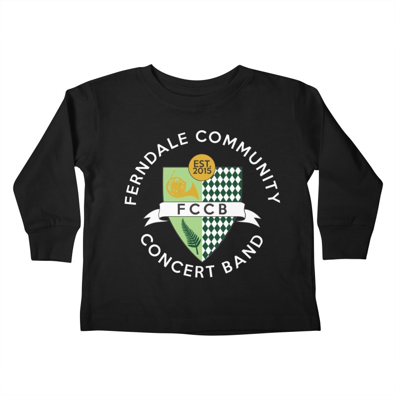 Large Crest- dark styles Kids Toddler Longsleeve T-Shirt by FCConcertBand's Apparel Shop