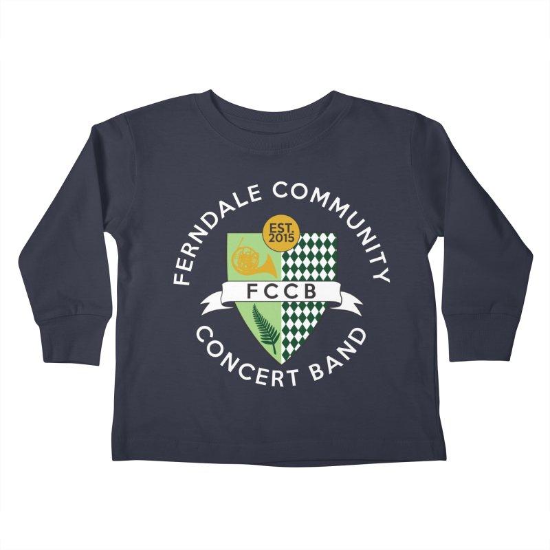 Large Crest- dark styles Kids Toddler Longsleeve T-Shirt by FCConcertBand's Apparel Shop