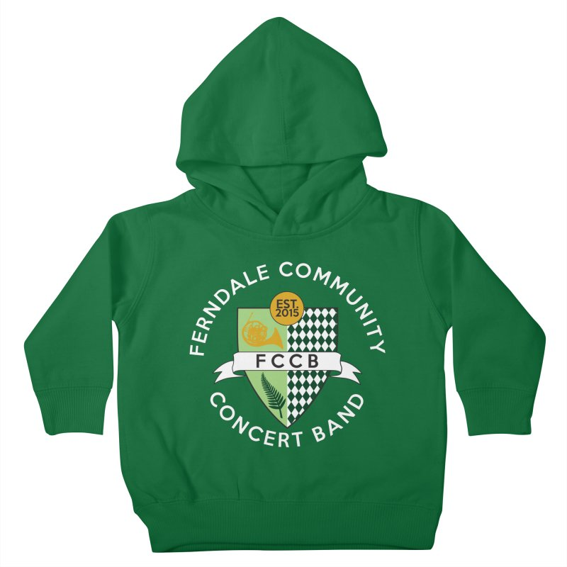 Large Crest- dark styles Kids Toddler Pullover Hoody by FCConcertBand's Apparel Shop