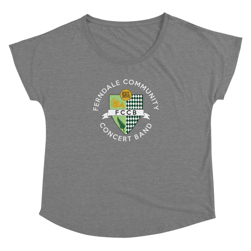 Large Crest- dark styles Women's Scoop Neck by FCConcertBand's Apparel Shop