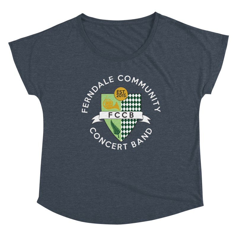 Large Crest- dark styles Women's Dolman Scoop Neck by FCConcertBand's Apparel Shop