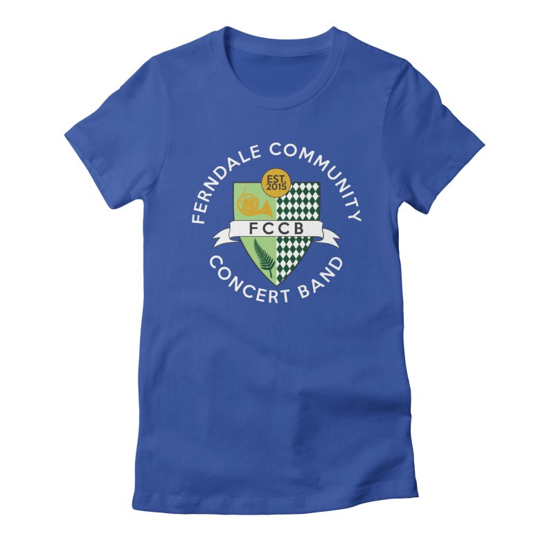 Large Crest- dark styles Women's Fitted T-Shirt by FCConcertBand's Apparel Shop