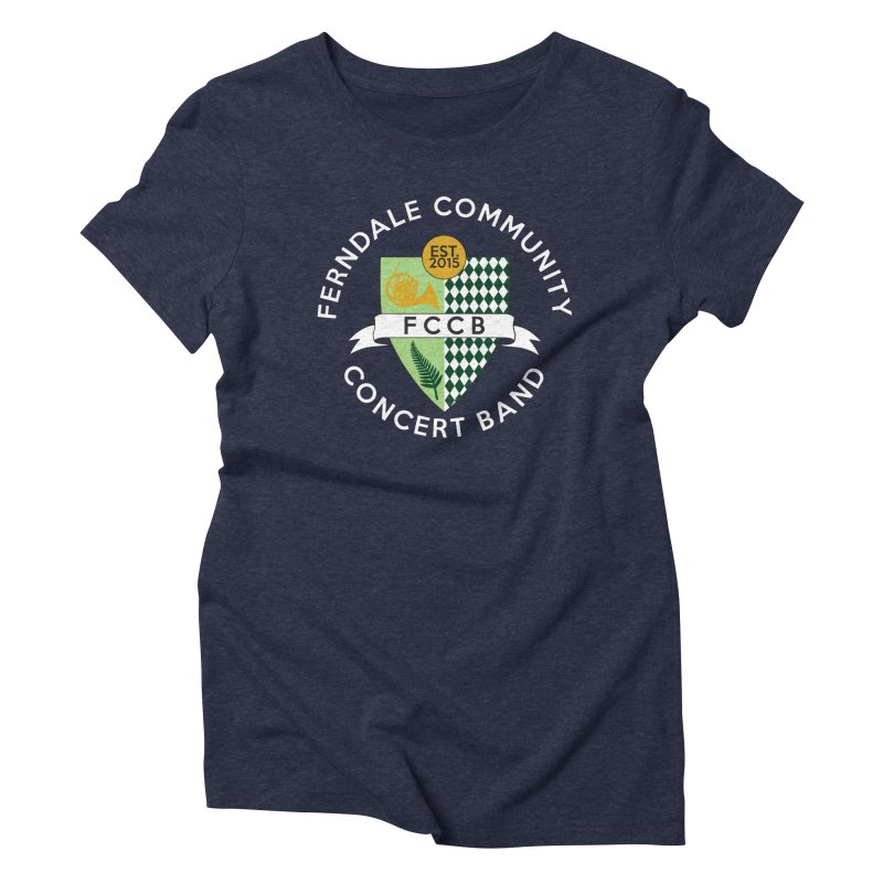Large Crest- dark styles Women's Triblend T-Shirt by FCConcertBand's Apparel Shop
