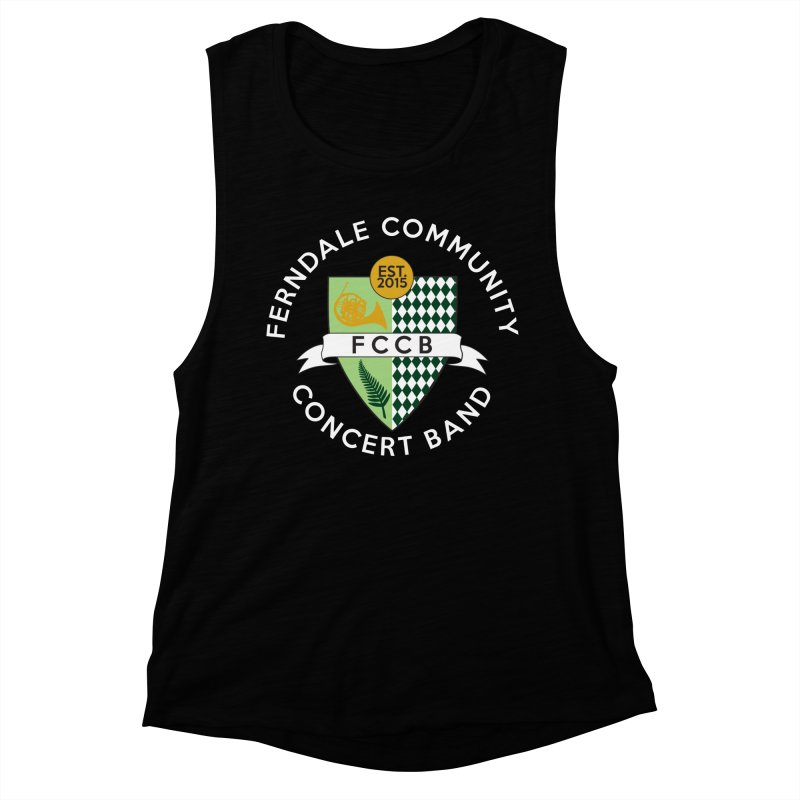 Large Crest- dark styles Women's Muscle Tank by FCConcertBand's Apparel Shop