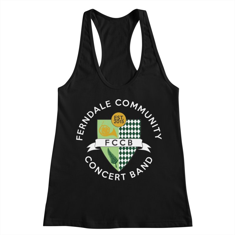 Large Crest- dark styles Women's Racerback Tank by FCConcertBand's Apparel Shop