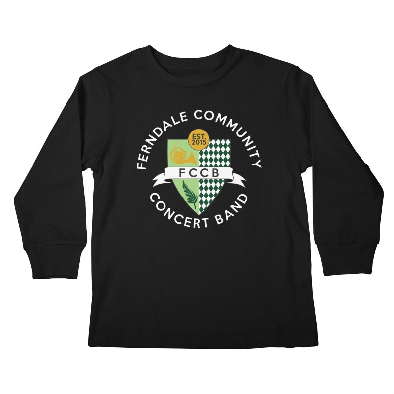 Large Crest- dark styles Kids Longsleeve T-Shirt by FCConcertBand's Apparel Shop