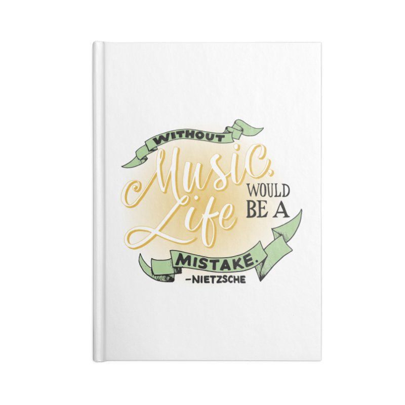 Music and Life Accessories Blank Journal Notebook by FCConcertBand's Apparel Shop