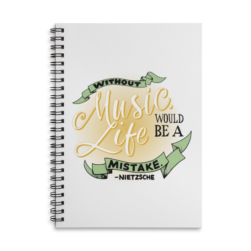 Music and Life Accessories Notebook by FCConcertBand's Apparel Shop