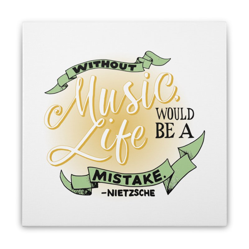 Music and Life Home Stretched Canvas by FCConcertBand's Apparel Shop