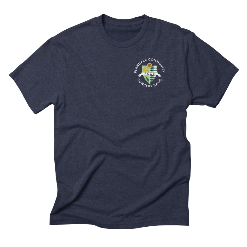 small crest- dark styles Men's Triblend T-Shirt by FCConcertBand's Apparel Shop