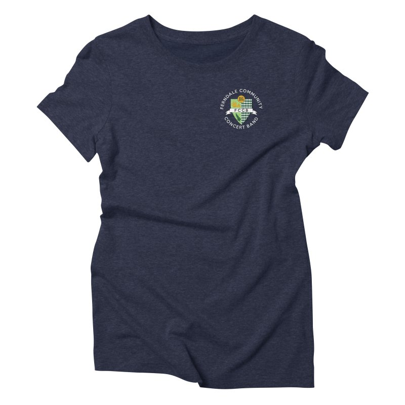 small crest- dark styles in Women's Triblend T-Shirt Navy by FCConcertBand's Apparel Shop