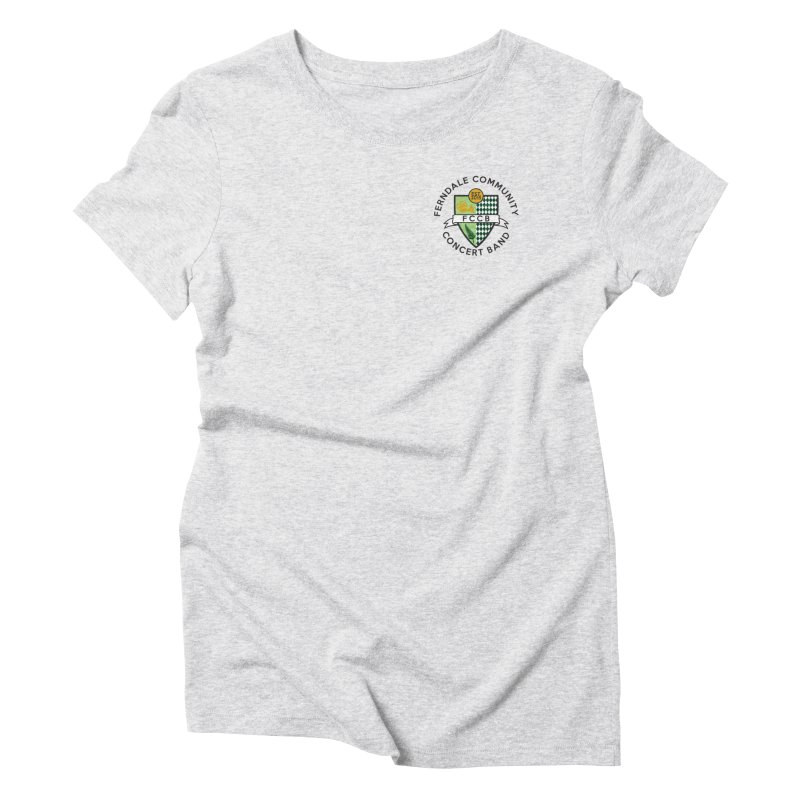 small crest- light styles Women's Triblend T-Shirt by FCConcertBand's Apparel Shop