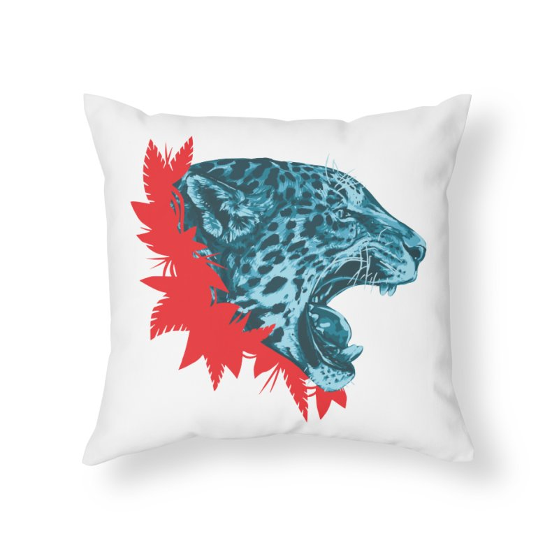 Alma Jaguar Home Throw Pillow by Fedz