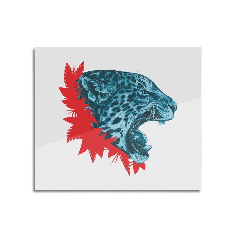 Alma Jaguar Home Mounted Aluminum Print by Fedz