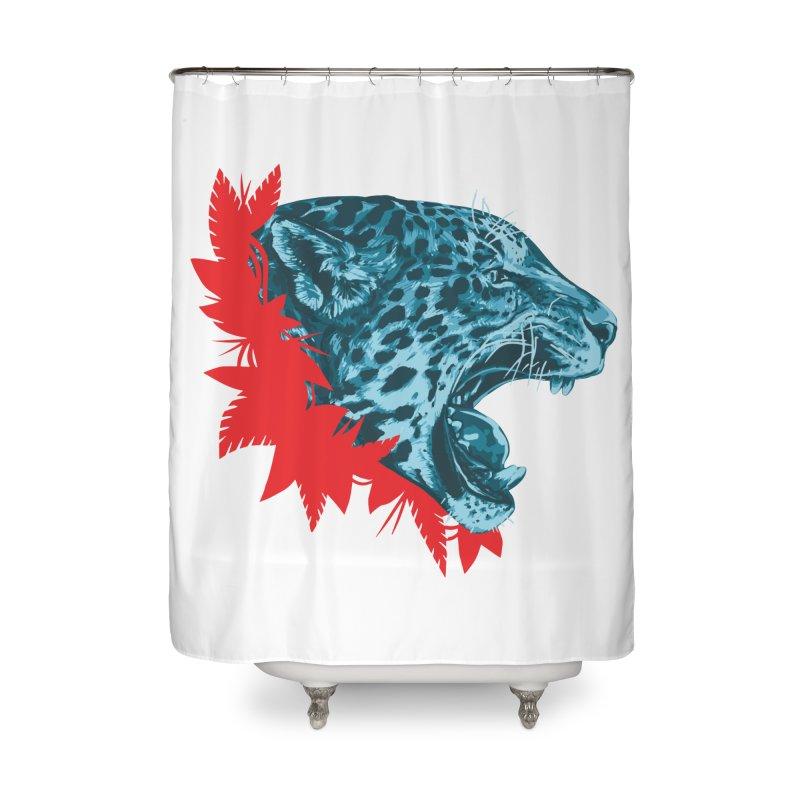 Alma Jaguar Home Shower Curtain by Fedz