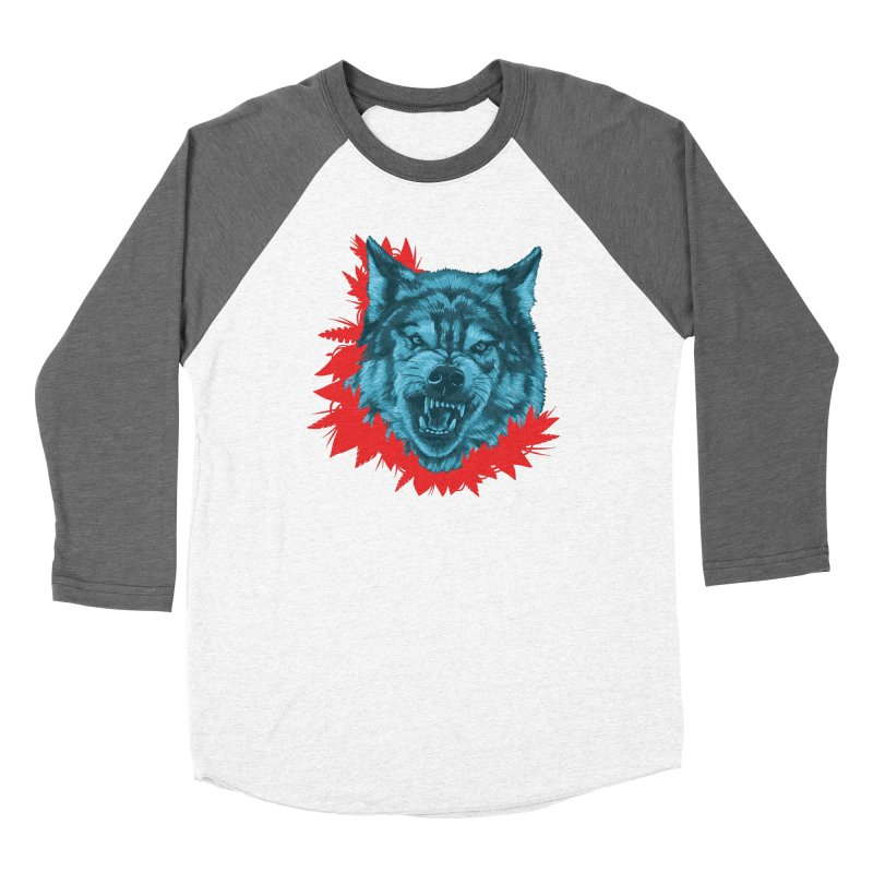 Sabio Lobo Men's Baseball Triblend Longsleeve T-Shirt by Fedz