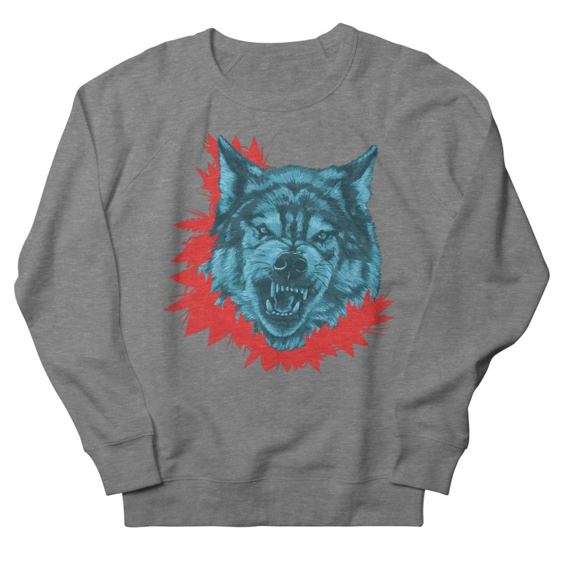 Sabio Lobo Men's French Terry Sweatshirt by Fedz