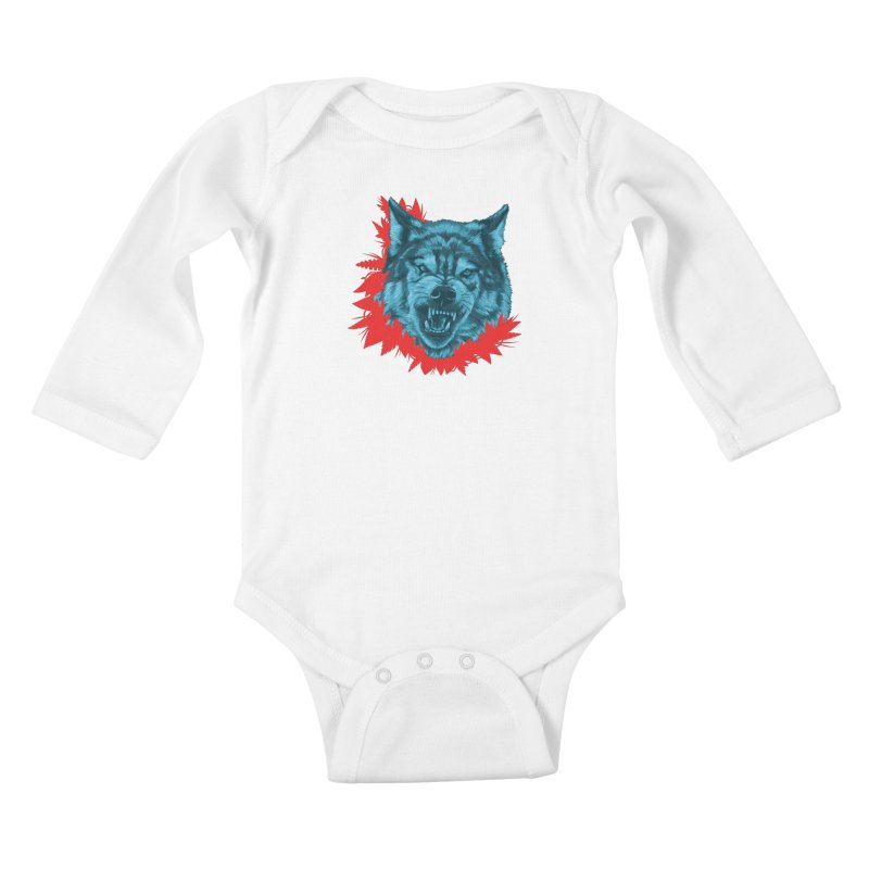 Sabio Lobo Kids Baby Longsleeve Bodysuit by Fedz