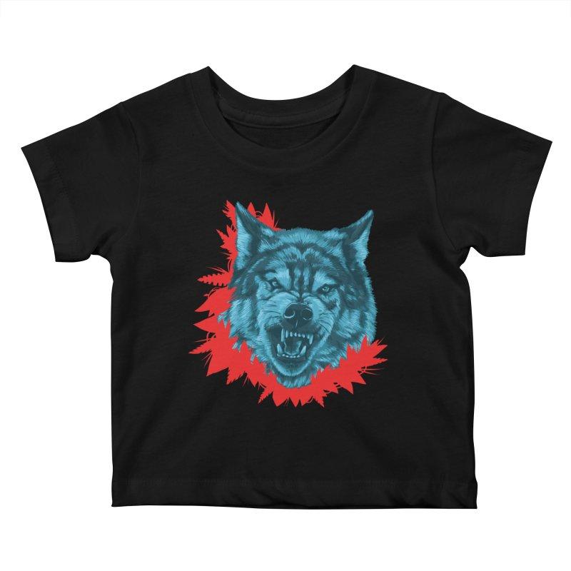 Sabio Lobo Kids Baby T-Shirt by Fedz