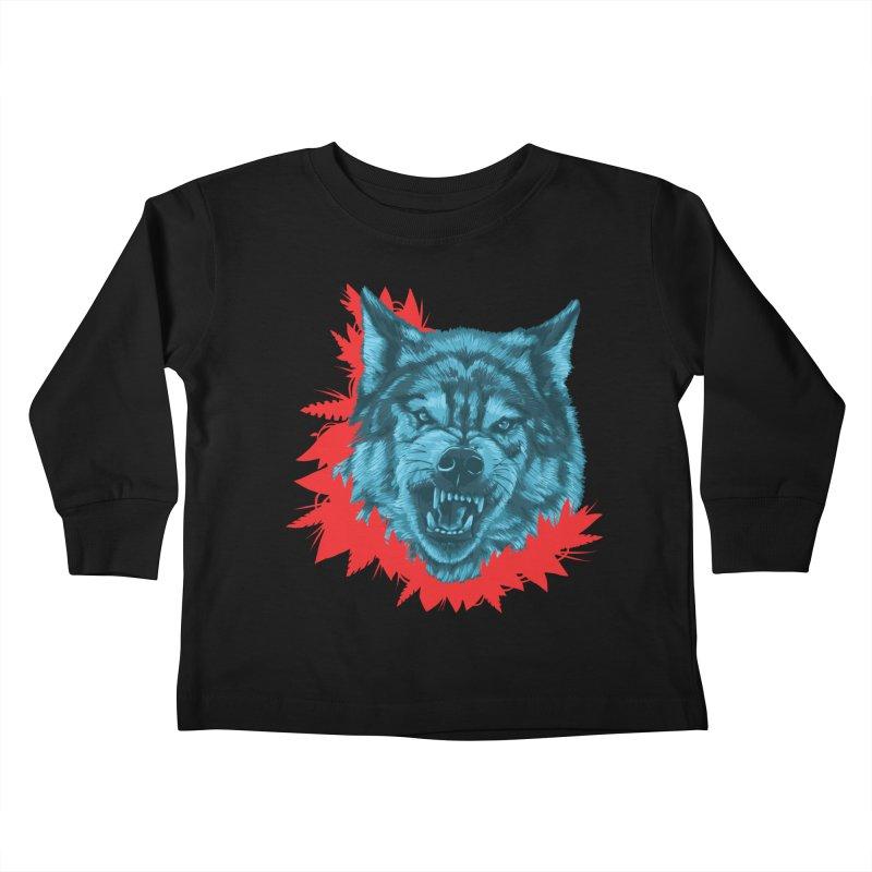 Sabio Lobo Kids Toddler Longsleeve T-Shirt by Fedz