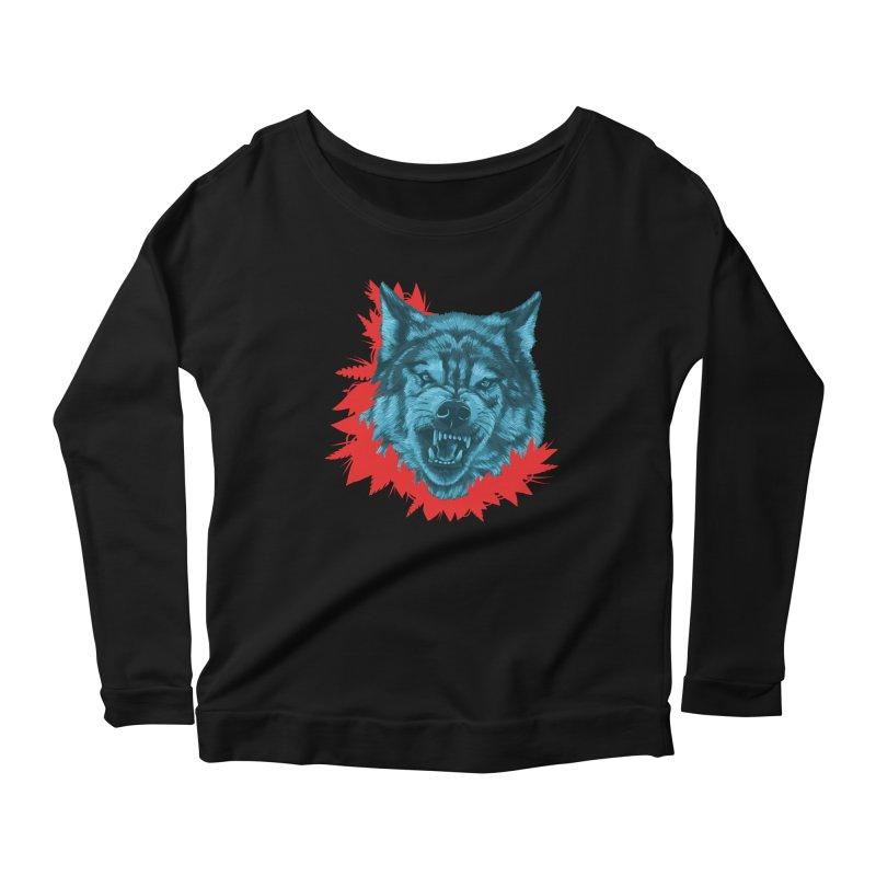 Sabio Lobo Women's Scoop Neck Longsleeve T-Shirt by Fedz