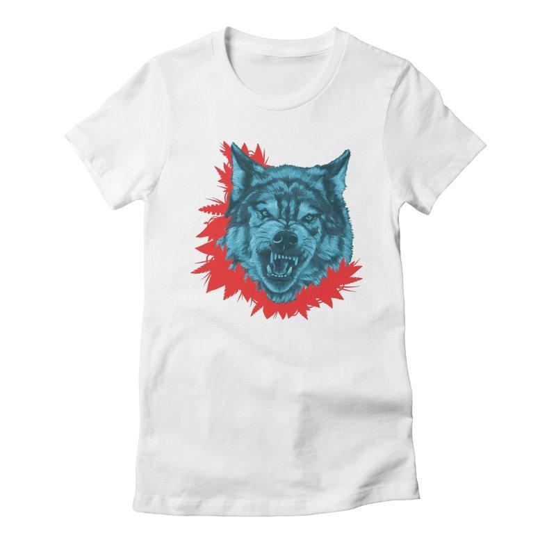 Sabio Lobo Women's Fitted T-Shirt by Fedz
