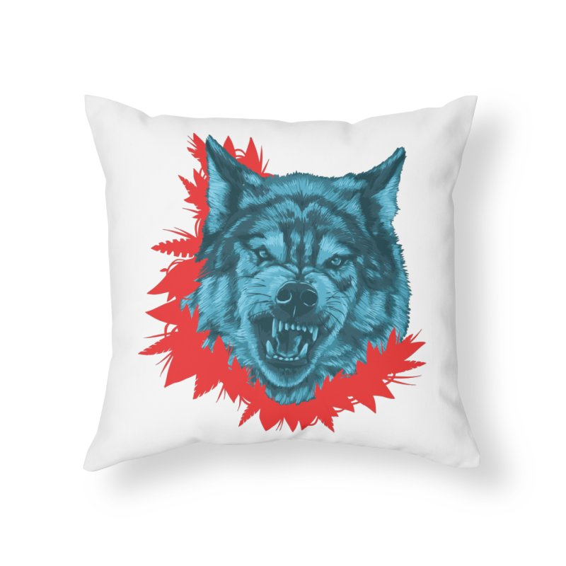 Sabio Lobo Home Throw Pillow by Fedz