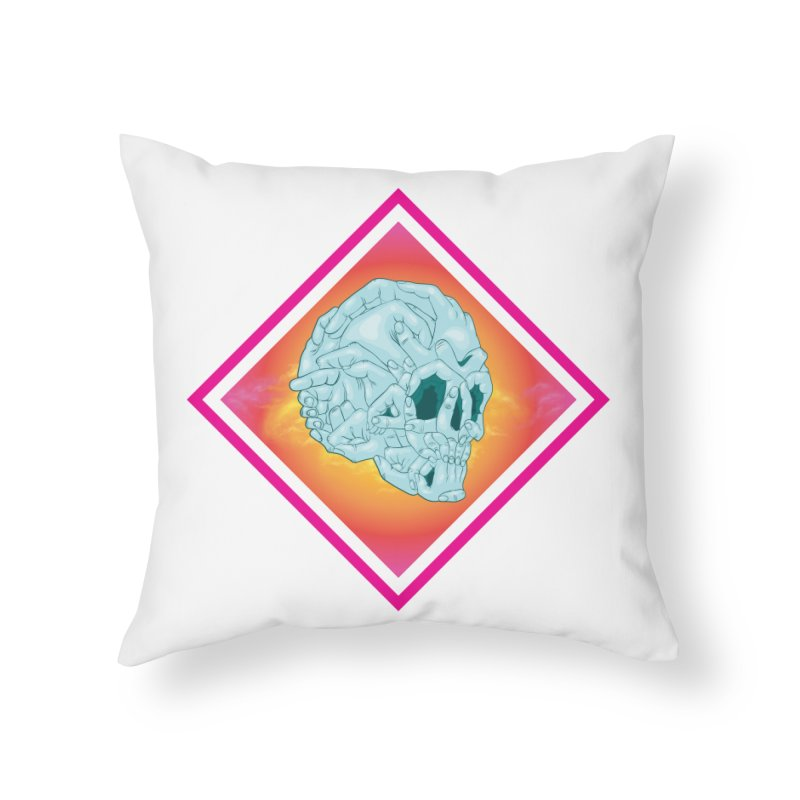 Hands of Death Home Throw Pillow by FEDZart's Artist Shop
