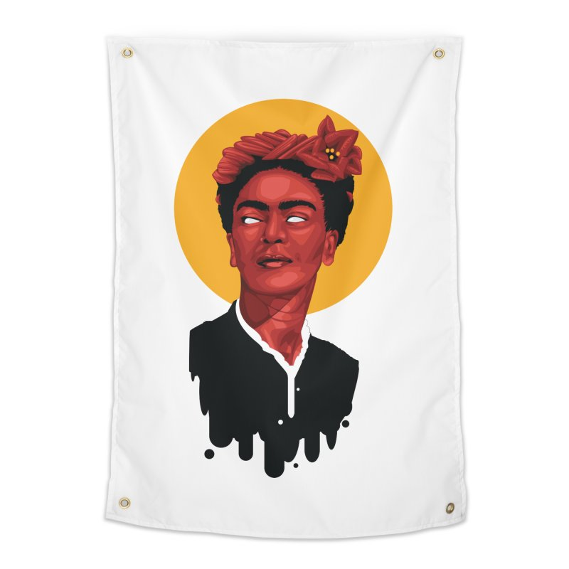 Santa Frida Home Tapestry by FEDZart's Artist Shop