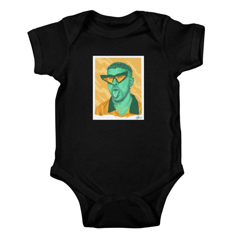 Conejito Malo Kids Baby Bodysuit by Fedz