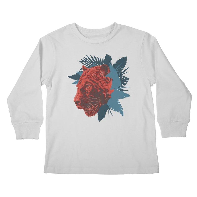 Pantera Sagrada Kids Longsleeve T-Shirt by Fedz
