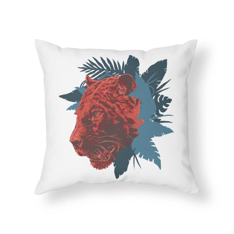Pantera Sagrada Home Throw Pillow by Fedz