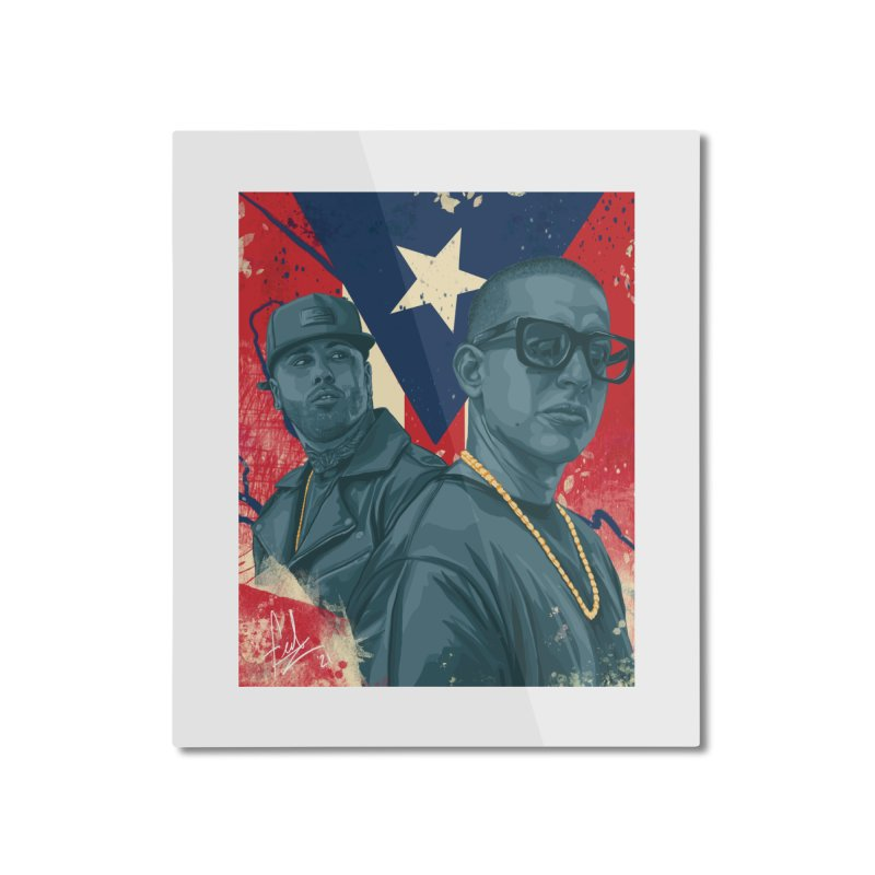 Los Cangris Home Mounted Aluminum Print by Fedz