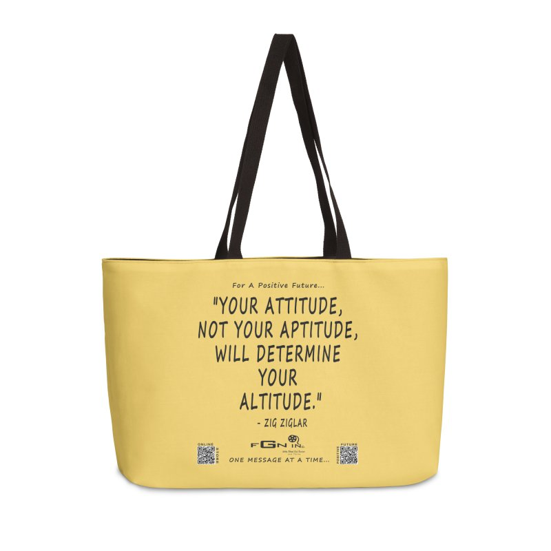 694 - Your Attitude Aptitude Altitude Accessories Bag by FGN Inc. Online Shop