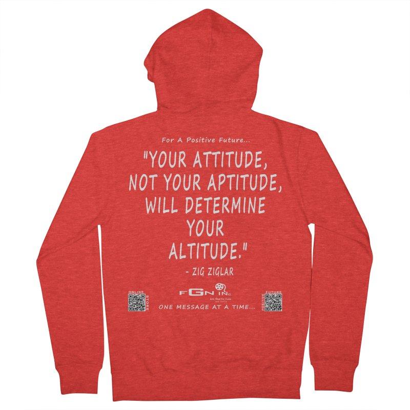 694A - Your Attitude Aptitude Altitude Women's Zip-Up Hoody by FGN Inc. Online Shop