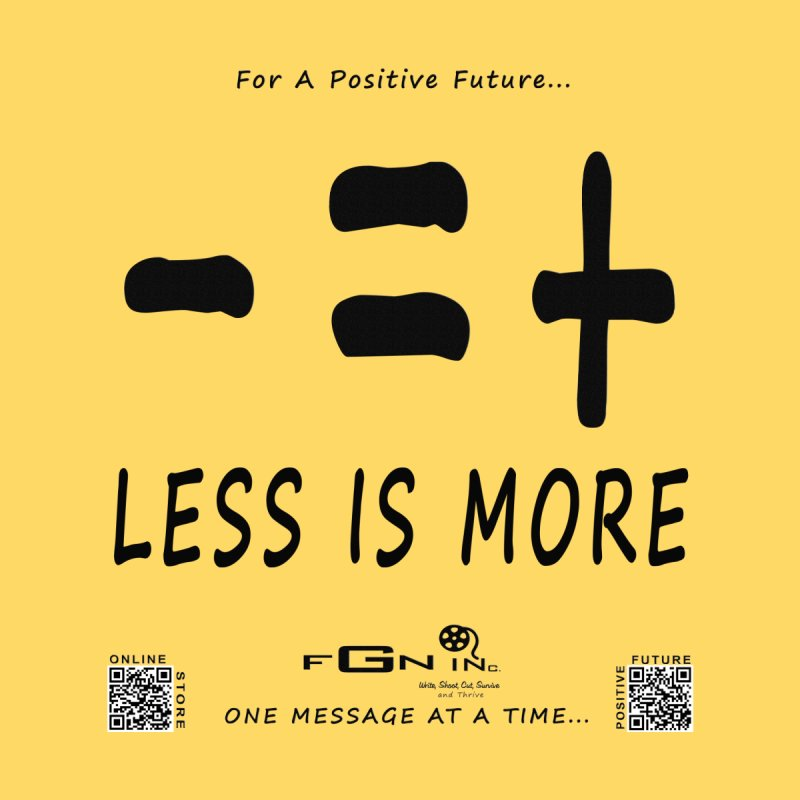 695 - Less Is More Accessories Sticker by FGN Inc. Online Shop