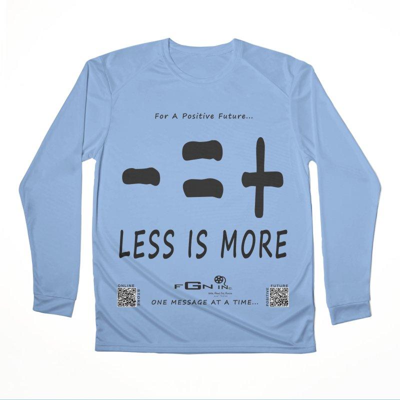 695 - Less Is More Men's Longsleeve T-Shirt by FGN Inc. Online Shop