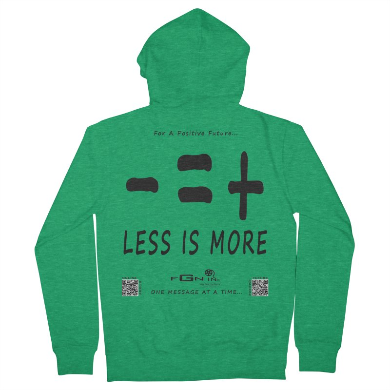 695 - Less Is More Men's Zip-Up Hoody by FGN Inc. Online Shop