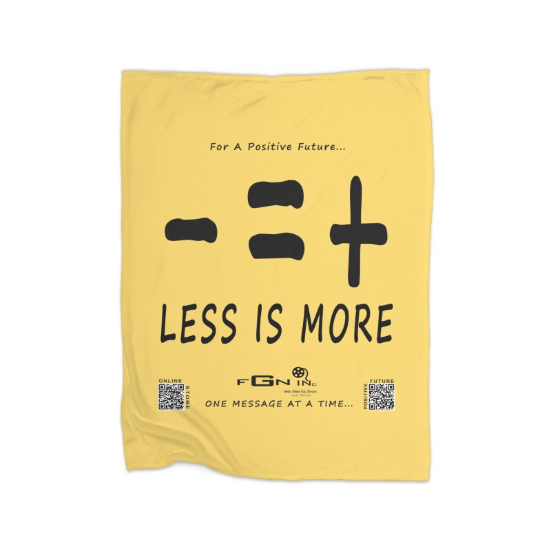 695 - Less Is More Home Blanket by FGN Inc. Online Shop