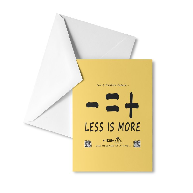 695 - Less Is More Accessories Greeting Card by FGN Inc. Online Shop