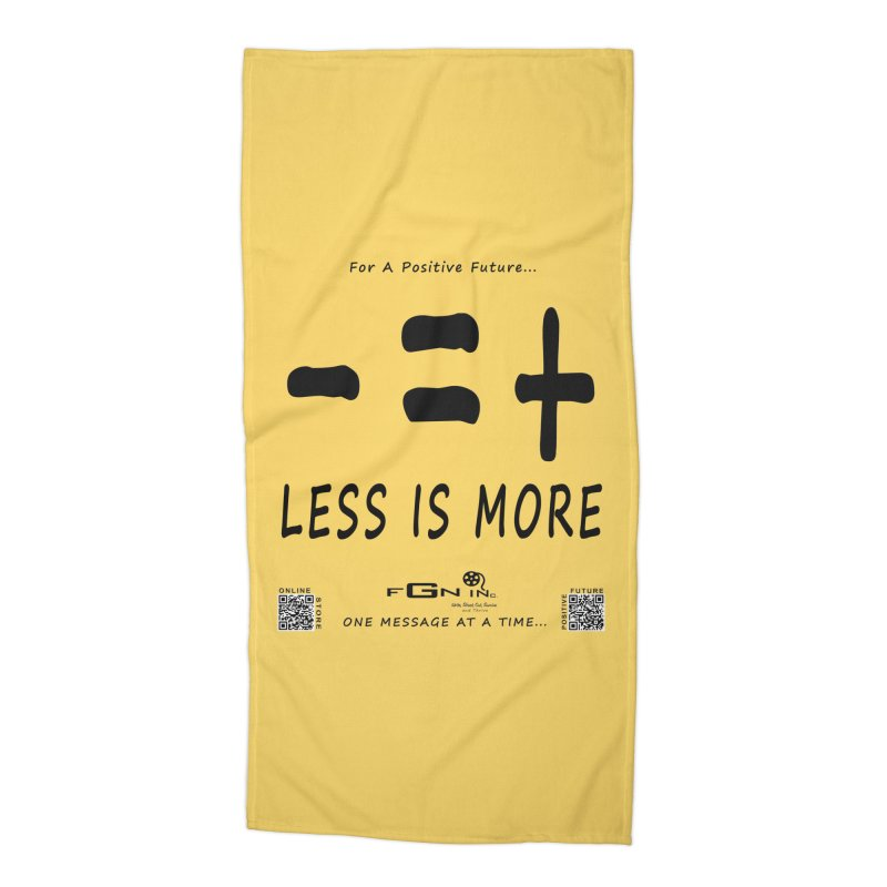695 - Less Is More Accessories Beach Towel by FGN Inc. Online Shop