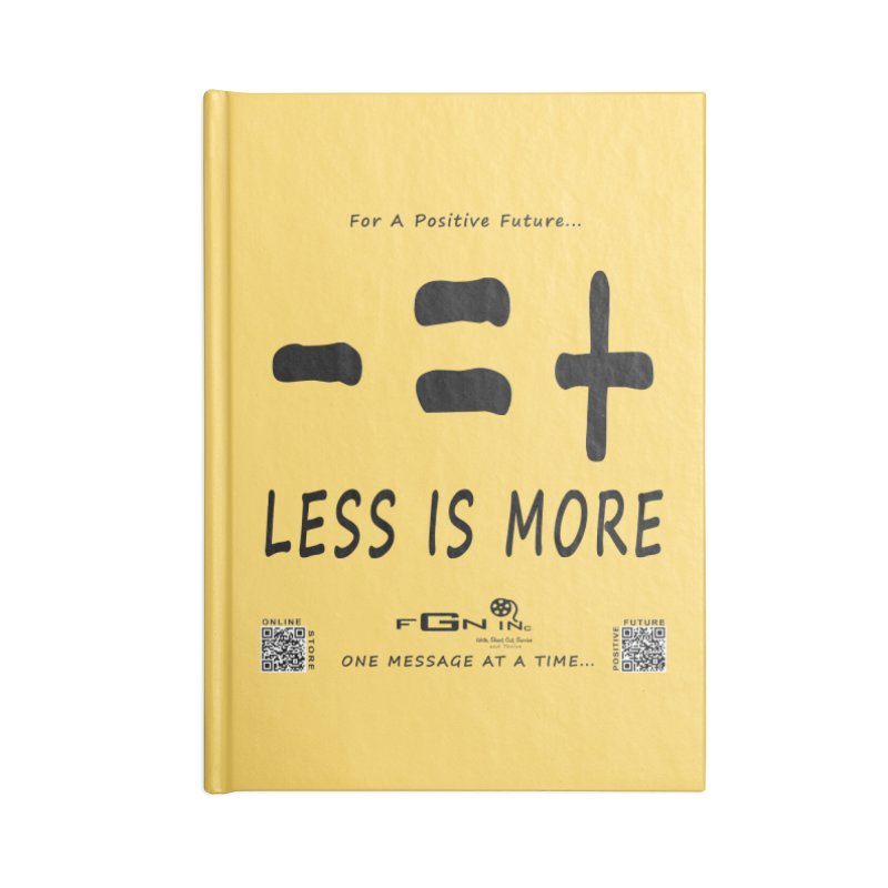 695 - Less Is More Accessories Notebook by FGN Inc. Online Shop
