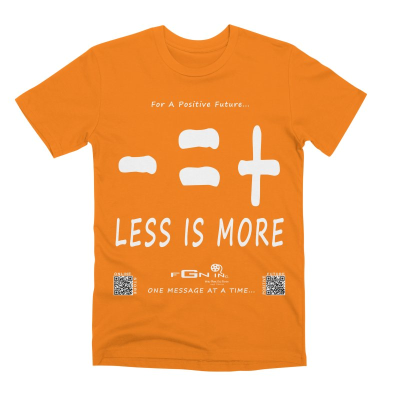 695A - Less Is More Men's T-Shirt by FGN Inc. Online Shop