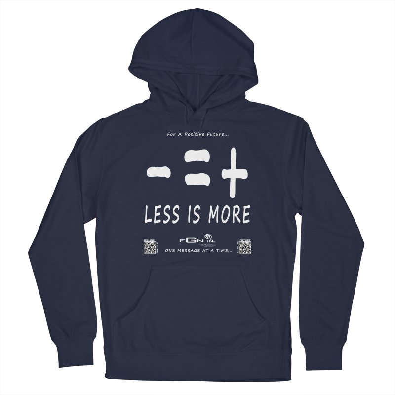 695A - Less Is More Men's Pullover Hoody by FGN Inc. Online Shop